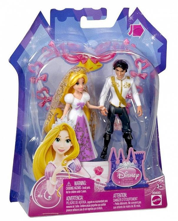 Disney Para Młoda ślub Roszpunki Komplet Mattel X9400 Zabawki